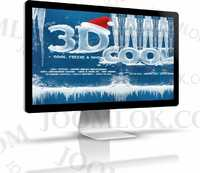 3D эффекты - Ice Cool, Freeze и Snow Text Effects