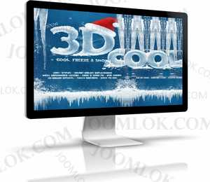 New 3D Ice Cool, Freeze & Snow Text Effects