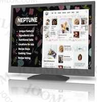 Neptune - template of recipes for bloggers and chefs